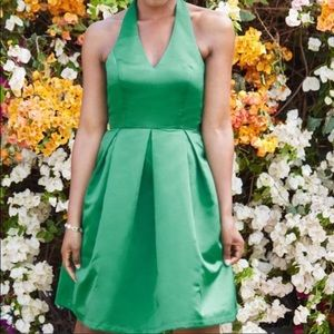 "ModCloth ""A Sight to Remember"" Green Halter Dress"